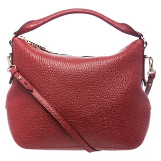 Burberry 'Ledbury' Small Red Grainy Leather Heritage Hobo
