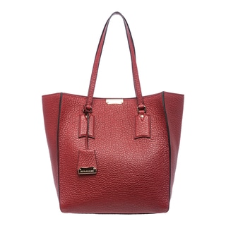Burberry 'Heritage' Medium Red Grainy Leather Tote