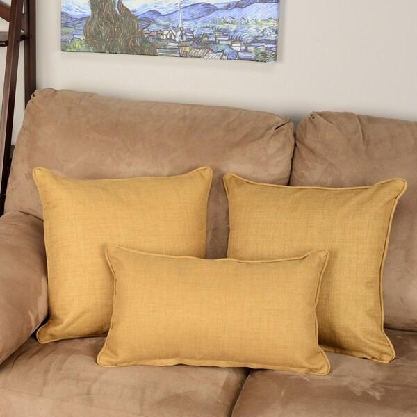 Blazing Needles Indoor/Outdoor Spun Polyester Throw Pillows (Set of 3)