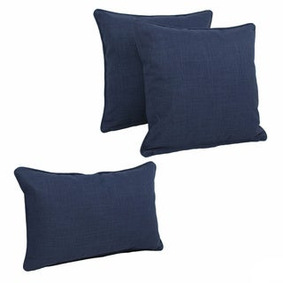 Blazing Needles Indoor/Outdoor Spun Polyester Throw Pillows (Set of 3)
