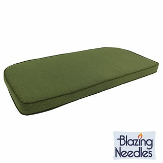 Blazing Needles Green Corded U-Shaped Indoor Settee/Bench Cushion