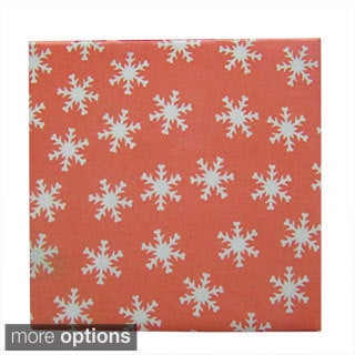 Snowflake Pattern Ceramic Wall Tiles (Pack of 20) (Samples Available)