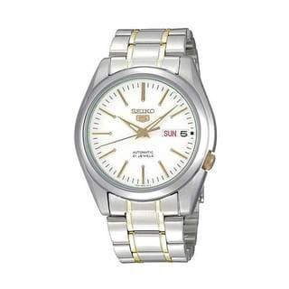 Seiko Men's 5 Silver/ Gold SNKL47K1 Watch