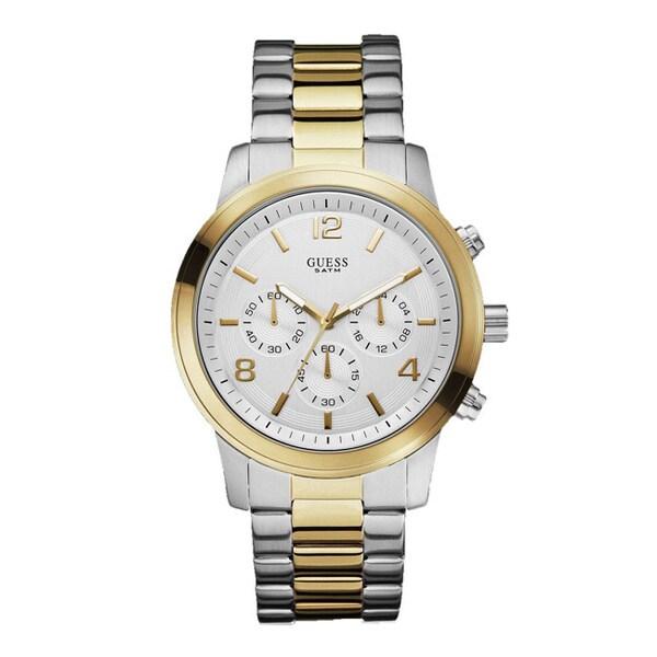 Guess Men's W0123G2 Dress Silver Chronograph Watch