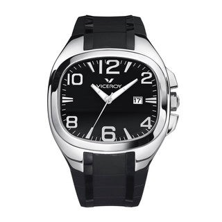 Viceroy Men's Black Rectangle Watch