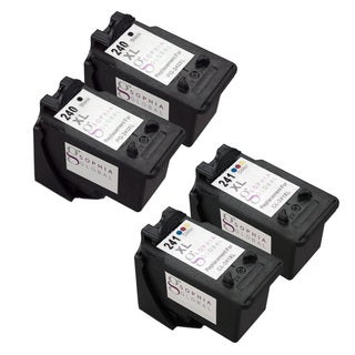 Sophia Global PG-240XL and CL-241XL Remanufactured 4-piece Ink Level Display Cartridge Replacement Set