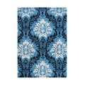 Handmade Alliyah French Blue/ Black New Zealand Blend Wool Rug (8' x 10')