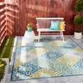 Nourison Waverly Sun and Shade Marine Rug (7'9 x 10'10)