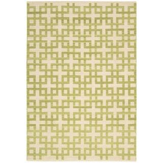 Flatweave Barclay Butera Maze Moss Rug (2'3 x 3'9)
