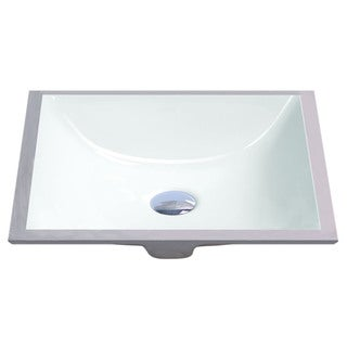 Geyser White Vitreous Porcelain Undermount Bathroom Sink (18 x 13 inches)