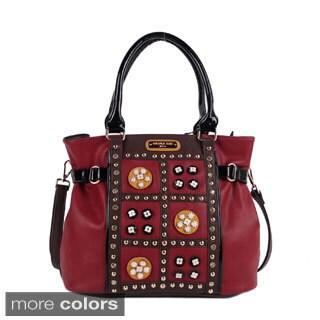 Nicole Lee 'Daysha' Flowery Embellished Shoulder Bag