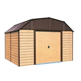 Arrow Woodhaven 10x9-foot Steel Storage Shed