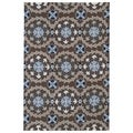 Indoor/ Outdoor Fiesta Brown Rug (7'6 x 9')