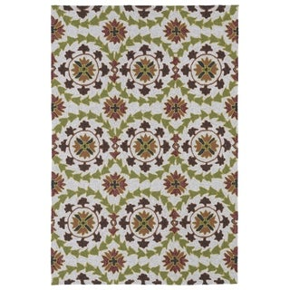 Indoor/ Outdoor Fiesta Oatmeal Rug (9' x 12')