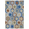 Indoor/ Outdoor Fiesta Multicolored Rug (7'6 x 9')