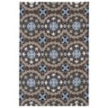 Indoor/ Outdoor Fiesta Brown Rug (5' x 7'6)