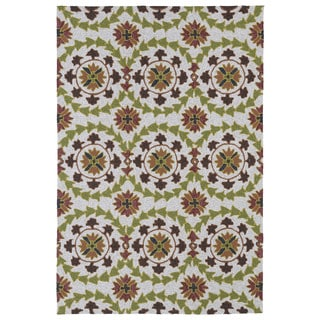 Indoor/ Outdoor Fiesta Oatmeal Rug (5' x 7'6)