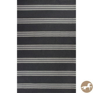 Hand-tufted Christopher Knight Home Charcoal Stripes Wool Area Rug (8' x 10')