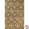 Hand-tufted Christopher Knight Home Beige Diamonds Area Rug (7'9 x 9'9)