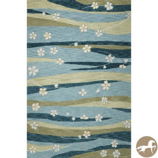 Christopher Knight Home Blue/ Green Springtime Area Rug (7'9 x 9'9)