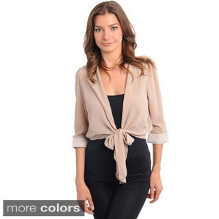 Feellib Women's Lightweight Tie-front Sash Jacket