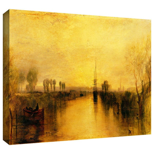 William Turner 'Chichester Canal' Gallery-wrapped Canvas Art