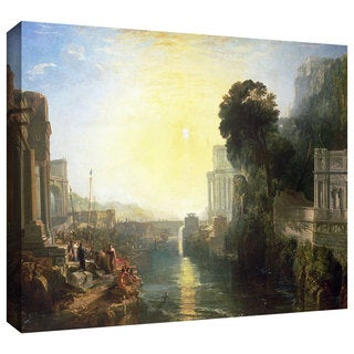 William Turner 'Dido Building Carthage, or The Rise of the Carthagnian Empire' Gallery-wrapped Canvas Art