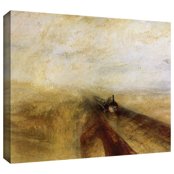 William Turner 'Rain Steam and Speed, The Great Western Railway' Gallery-wrapped Canvas Art
