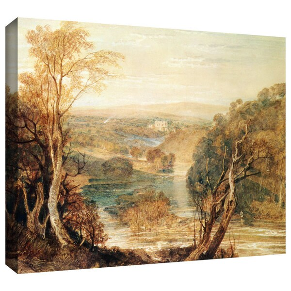 William Turner 'The River Wharfe with a distant view of Barden Tower' Gallery-wrapped Canvas Art