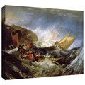 William Turner 'Wreck of a Transport Ship' Gallery-wrapped Canvas Art