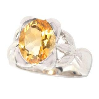 Sterling Silver Citrine Fashion Ring