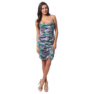 BCBG Maxazria Women's Multicolored Allover Ruched Bodycon Dress