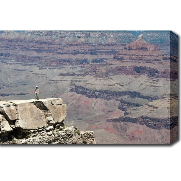 'Man vs. Nature: The Majestic Grand Canyon' Canvas Art