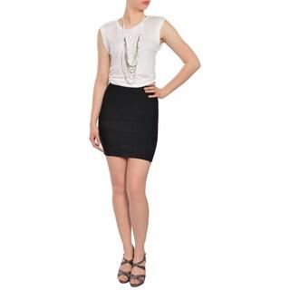 BCBG Maxazria Women's Black and White 2fer Cocktail Dress