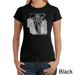 Los Angeles Pop Art Women's 'Elephant' T-shirt