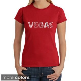 Los Angeles Pop Art Women's 'Record Adapter' T-shirt