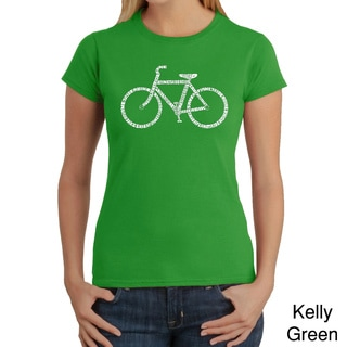 Los Angeles Pop Art Women's 'Save A Planet Bike' T-shirt