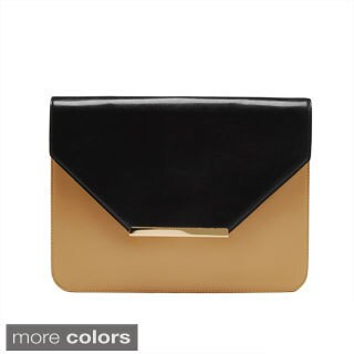 Via 'Ayres' Two-tone Envelope Clutch Bag