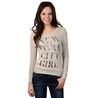 Hailey Jeans Co. Junior's Long Sleeve Knit Top