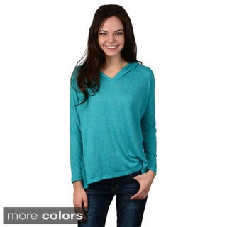 Hailey Jeans Co. Junior's Dolman Sleeve Hooded Top