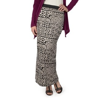 Hailey Jeans Co. Junior's Stretchy Printed Maxi Skirt