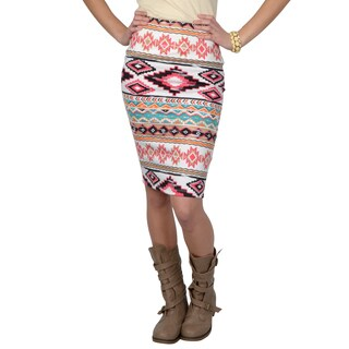 Hailey Jeans Co. Junior's Stretchy Printed Pencil Skirt