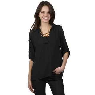 Hailey Jeans Co. Junior's Hi-lo V-neck Chiffon Top