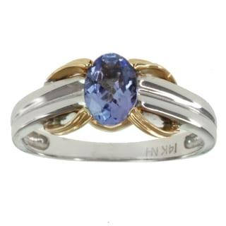 Michael Valitutti 14k Two-tone Gold Tanzanite Ring