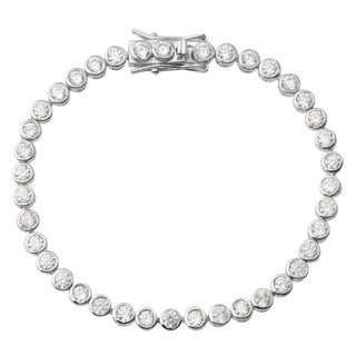 Journee Collection Sterling Silver Cubic Zirconia Bracelet
