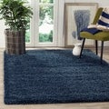 Safavieh California Cozy Solid Navy Shag Rug (4' x 6')