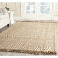 Safavieh Hand-woven Natural Fiber Bleach/ Natural Jute Rug (6' Square)
