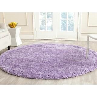 Safavieh California Cozy Solid Lilac Shag Rug (6'7 Round)
