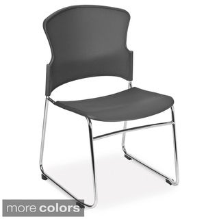 OFM Plastic and Steel Multi-use Stackable Chair (Pack of 4)