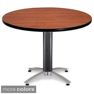 OFM Multipurpose 42-inch Round Metal Mesh Table
